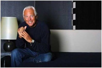 Giorgio Armani is a fashion designer