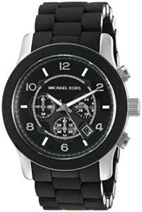 MK8107 Runway Black Chronograph Watch