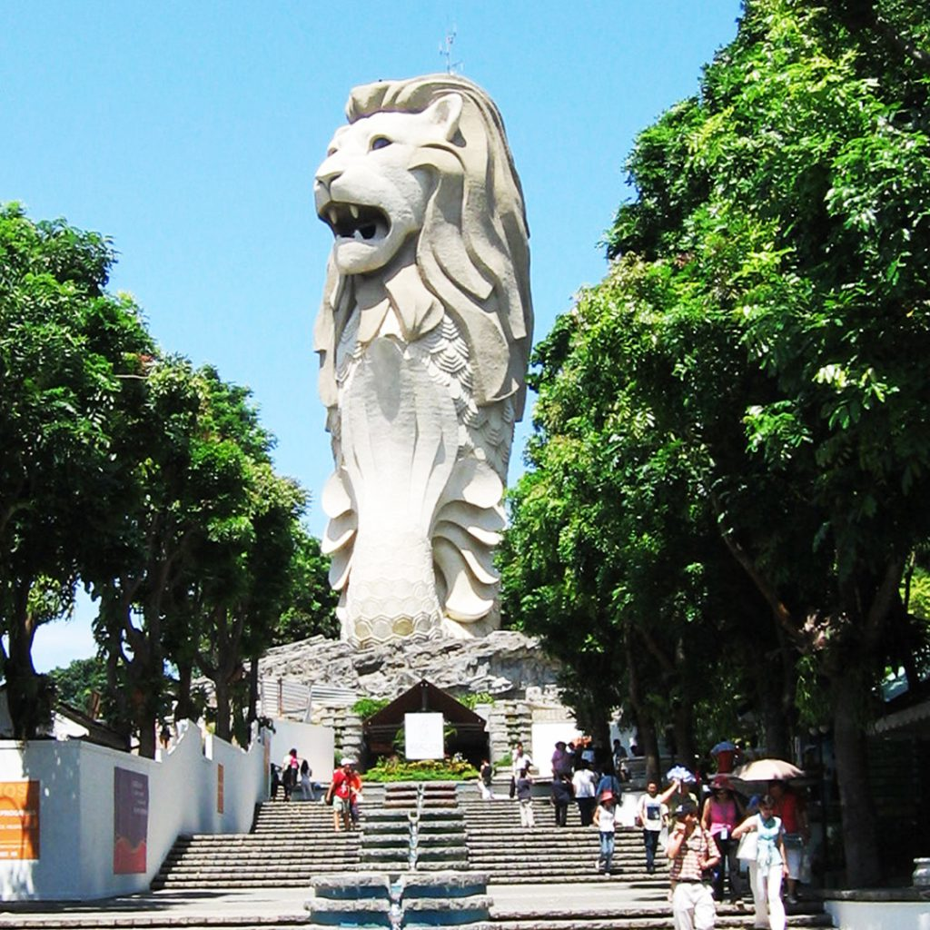The Merlion of Sentosa