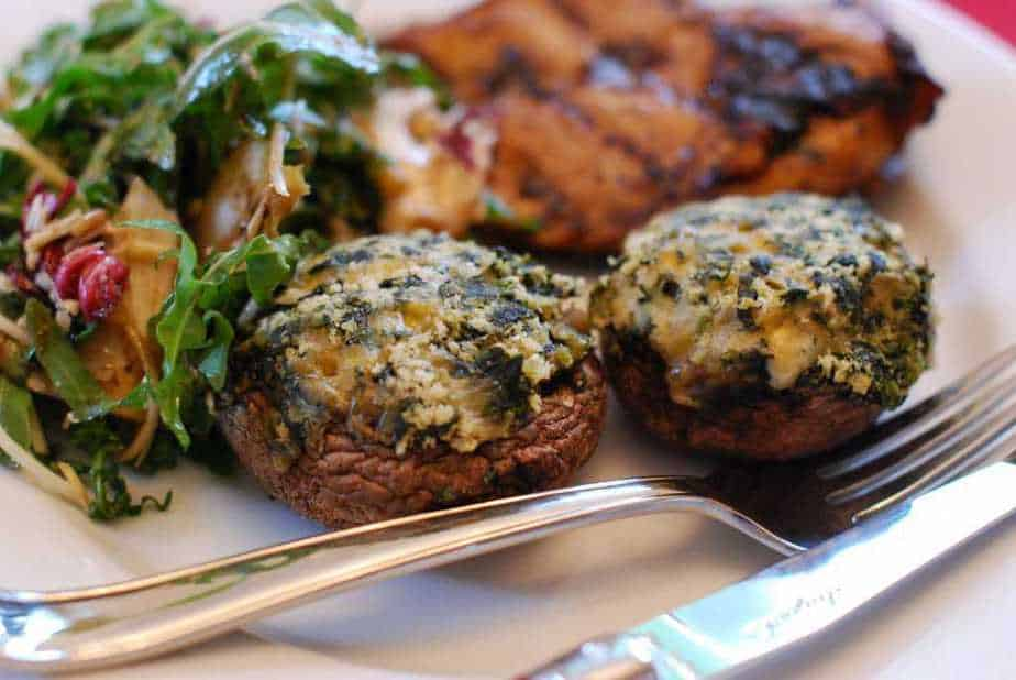 Stuffed Mushrooms with Healthy Vegetables