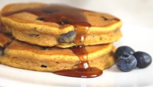 Wheat Blueberry Pancakes
